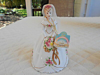 Applause Josef Original Bride #38660 Ceramic Figurine W/Mesh Veil