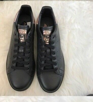 official photos 81a97 b2aed NWOB adidas Core Black W Rose Gold STAN SMITH Classic Trainers Women s Size  8.5