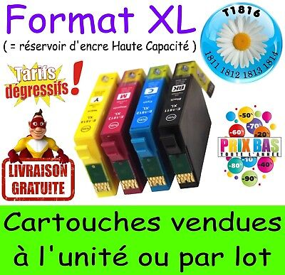 Lot de 4 cartouches d'encre compatible T18 XL nonOEM EPSON Expression Home XP425