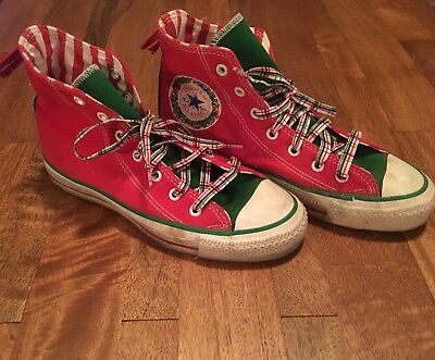 61553f08e8a5ff VINTAGE CONVERSE ALL Star Chuck Taylor Christmas shoes size 4.5 rare ...