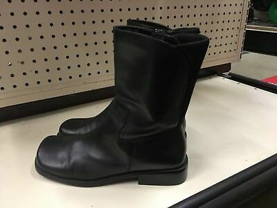 f040bd976c3 ANNE KLEIN Black Leather Short Boots Women's Size 8