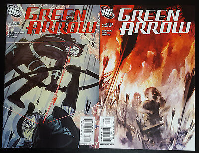 "Green Arrow #58-59 Set (2006, DC) Vol 3 ""Until the End of the World"" Complete"