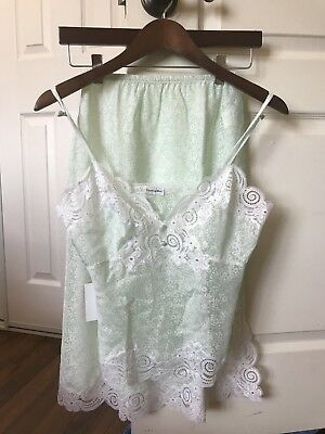 Vintage Christian Dior Intimates light green size small Top and Skirt Set