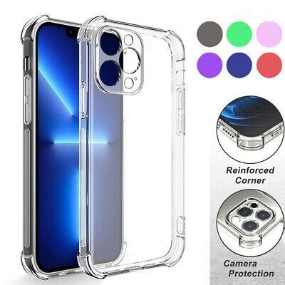 iPhone XS MAX XR X 8 7 6s Plus Shockproof Clear Hybrid Hard Case Cover for Apple