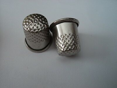 2  X  16 Mm X 16 Mm Silver Sewing Metal Thimbles,aussie Seller,very Fast Postage