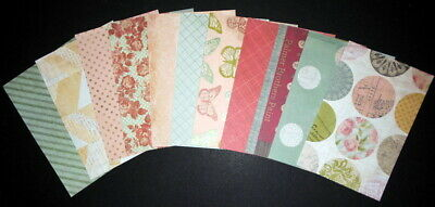 """11 Patterned Papers *HOMESPUN SIGNATURE COLLECTION * - 15cm x 10cm (6"""" x 4"""")"""