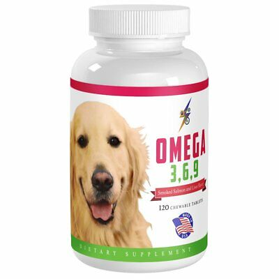Best Omega 3 6 9 Fish Oil for Dogs - Helps with Itchy Skin, Coat, Joints, Heart