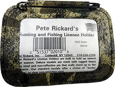 "Pete Rickard 154G Hunting License Holder Camo 3.5"" x 4.5"""
