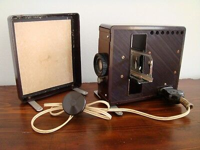 FAFIX SLIDE PROJECTOR MADE IN WEST GERMANY 1950s BROWN BAKELITE VINTAGE ORIGINAL