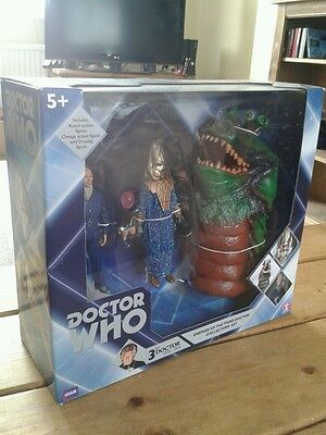 Dr Doctor Who Enemies Of The 3Rd Dr Figure Set New Sealed Mint Boxed