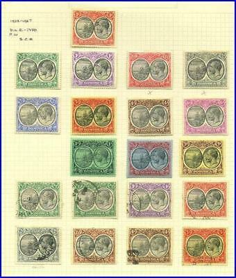 Dominica - 1923-27 -- Seal of Colony & KGV -Mint and Used set to 3sh -- 18