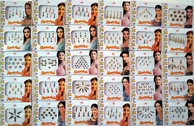 6 Different Packets of India Traditional Bindi Tika bodyTattoo Free Shipping