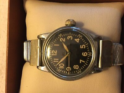 Elgin USA  WWII US Army Issued A-II Special Case  Vintage Military Watch
