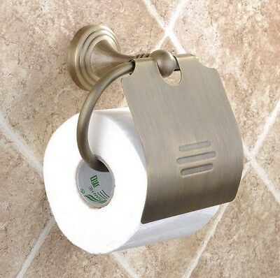 Bathroom Accessory Antique Brass Wall Mount Toilet Paper Roll Holder Yba029