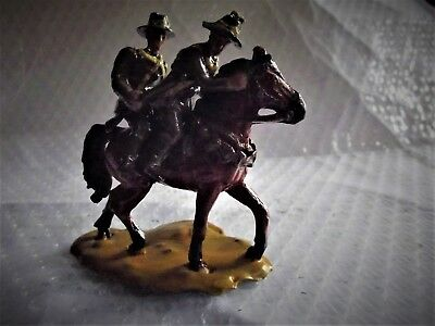 54mm WW1 Australian Light Horse carrying cobber double up, after horse down