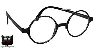 Adults / Kids Black Round Frame Harry Potter Fancy Dress Book Week Day Glasses