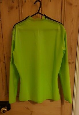 Apple Green Latex Rubber Mens Top, with Shoulder Entry Zips **SALE**