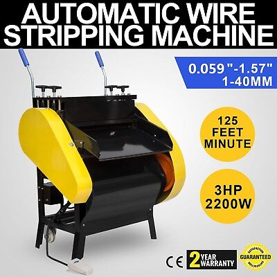 Automatic Wire Stripping Machine with Foot Pedal Cable Stripper Scissor Cutting