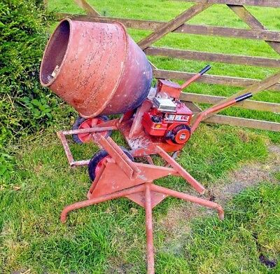 Baromix Petrol Concrete Cement Mixer With Stand Solid And Clean Condition