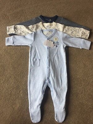 Baby Boys Sleepsuits Next BNWT up To 3 Months