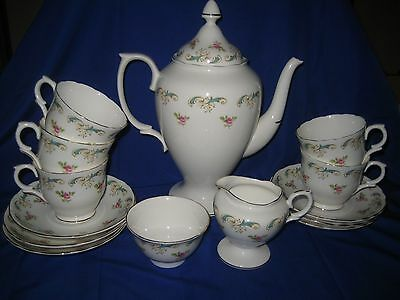 Crown Staffordshire  Wentworth Pattern China Tea  Set