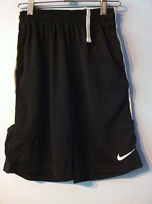 Nike Dry-Fit Black with White Trim Soccer Shorts size M
