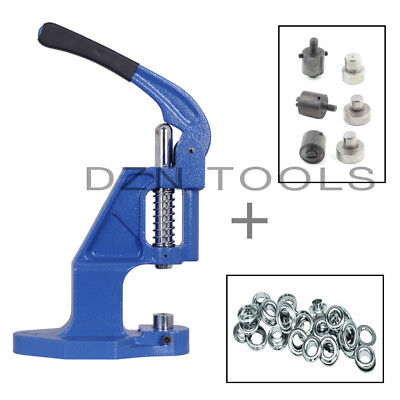 Starter Set - Grommets Hand Press and 6 Self Piercing Dies and 1250 Eyelets