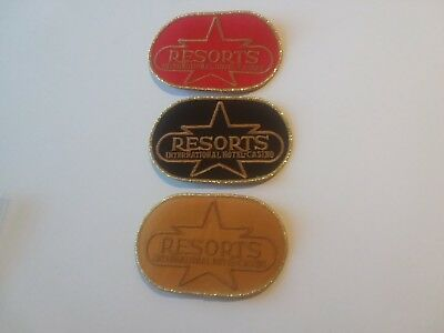 3.vtg *resorts International Hotel-Casino* Atlantic City,nj *embroidered Patches