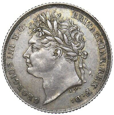 1825 Sixpence - George Iv British Silver Coin - V Nice