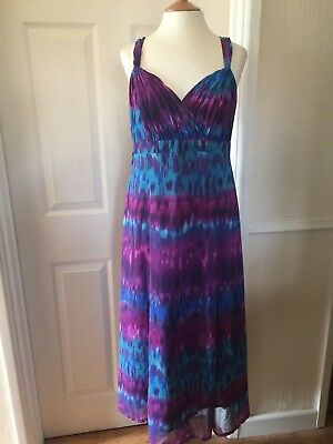 Per Una Gorgeous Blue/Violet Occasion Dress Sz 12 Reg  Nwt