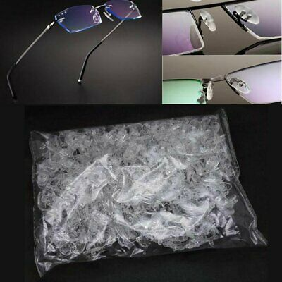 1000Pairs Flexible Silicone Nose pads for glasses screw in Eyeglasses Sunglasses