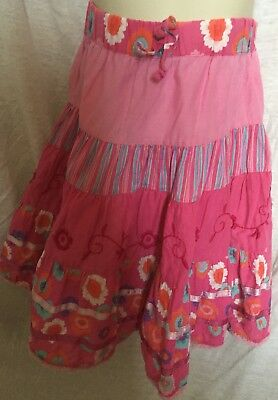Pink patterned CQ MATALAN elasticated skirt Age 3 years