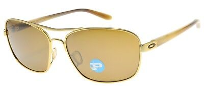 Oakley Women's Sunglasses Sanctuary OO4116-05 Gold Satin W/ Tungsten Polarized