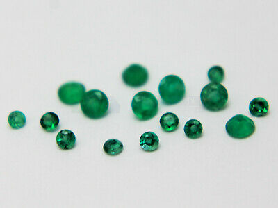 Natural Emerald 2mm to 3mm Round Loose Gemstone VS Best Quality many sizes