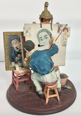 Saturday Evening Post Norman Rockwell Figure Triple Self Portrait Feb 13 1960