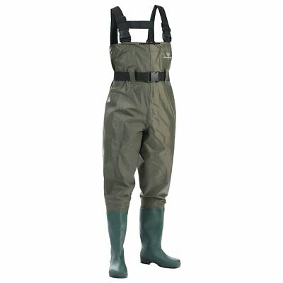 Chest Fishing Waders Wading Boots, Waterproof Insulated Breathable Nylon PVC 11