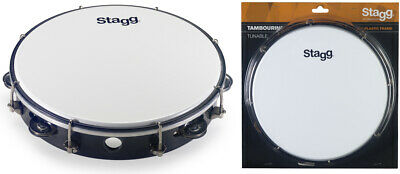 Stagg TAB-110P/BK 10 Zoll stimmbares Kunststoff Tambourin