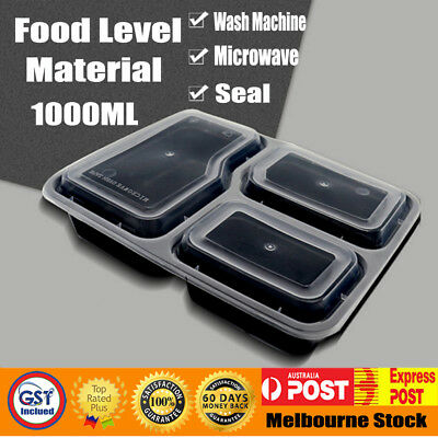 Take away Plastic Food Containers Meal Prep Microwavable Wash Machine Lunch Box