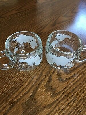The Nestle Company Inc. Nescafe World Globe Mugs Cups Set of 2