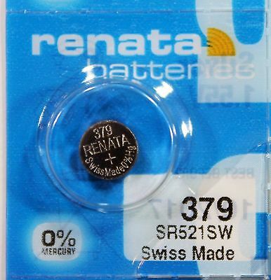 2x HIGH QUALITY - RENATA 379 / SR521SW - 1.55V WATCH BATTERY/CELL+ UK FREEPOST