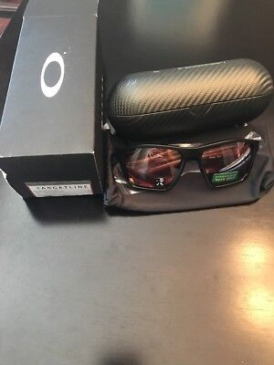 dc80a65b60abc Oakley Targetline Sunglasses OO9397-10 58mm Matte Black Prism Dark Golf New