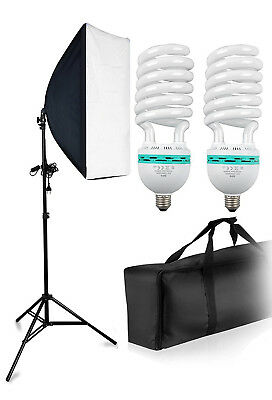 Inter Image * Kit Studio Photo avec 2 Ampoules E27 de 5200K * TBE