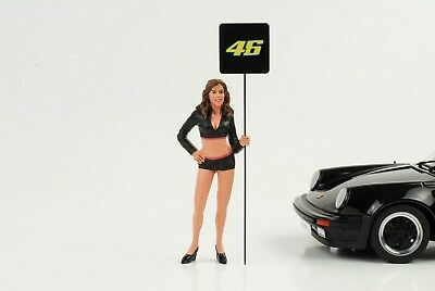Cool Grid Girl Board Figurine PADDOCK Racing 1:18 AMERICAN DIORAMA NO CAR