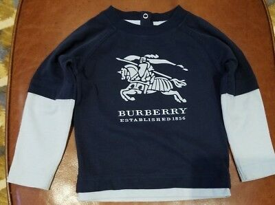 fc8418a6 100% Authentic Burberry Embroidered Logo 2 in 1 T-Shirt-Size 18m (