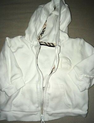 Burberry Baby White Hoodie Size 3 Months