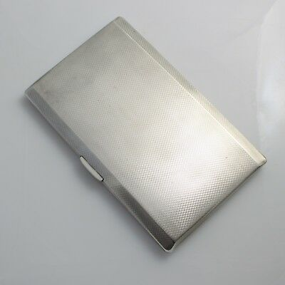 Heavy Vintage Solid Sterling Silver Cigarette Card Case Hallmarked 1946 225g