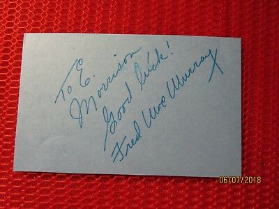 FRED MacMURRAY  AUTOGRAPH  (1908-1991)