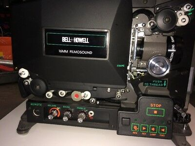 Bell Howell 16mm Filmosound BHE Voltage AC 120V.  Cycle 60Hz Lamp ELC 24