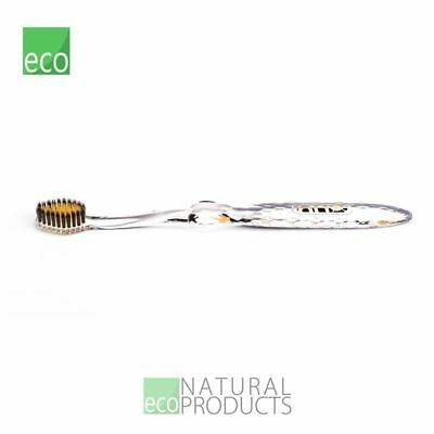 Nano-b Natural Charcoal & Gold Toothbrush Crystal Handle