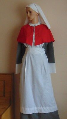 Girls Ww1 Ww2 Qaimns Staff Nurse (Matron) Style Military British Uniform Costume